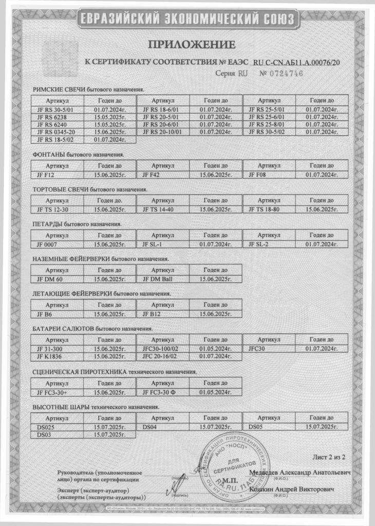Сертификат 76-20-3